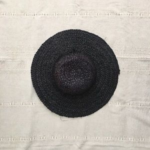 Nine West Black Raffia Straw Sun Hat • Like New